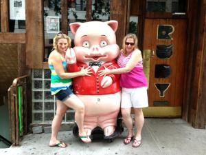 Molesting a Pig, New York City
